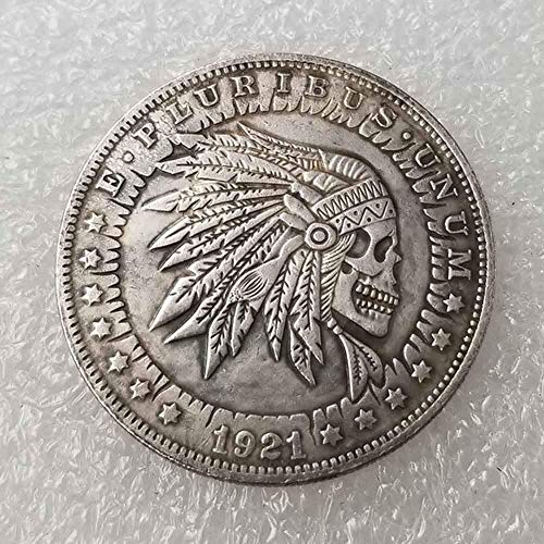 DDTing Best Morgan Silver Coins - 1921 Hobo Nickel Coin - Old Coin Collecting - Silver Dollar USA Old Morgan Dollar - überzogenes Silber Old Crafts Coin goodService