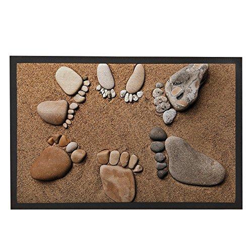 Rustikale Badezimmer-dekor-teppich (Fußmatte Welcome Beach Dekore Spuren die Sauberlaufmatten Outdoor Teppiche Tür Teppiche Innen 80x 50cm Rustikale Deko Home Badteppich Badezimmer Teppich)