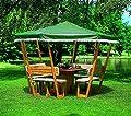 Pavillon ROSENHEIM Gartenlaube Holzpavillon 304x304cm wahlweise mit weißem oder grünen Dach von PRIKKER-Holzmarkt - Gartenmöbel von Du und Dein Garten