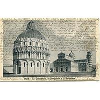 1923 Pisa La Cattedrale il Campanile e il Battistero FP B/N VG Cartolina Postale