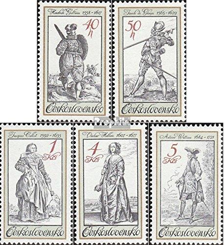 Tschechoslowakei 2742-2746 (kompl.Ausg.) 1983 Kostüme (Briefmarken für (Kostüm Briefmarke)