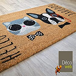Decoweb Paillasson Coco 45 x 75 cm - Chat & Chien