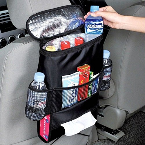 Preisvergleich Produktbild Auto Rücksitz Organizer Kühler Leichtes Aufbewahrungstasche mit Mehreren Taschen für Outdoor-Reise Erhaltung Wärme und Kühlendes Getränk