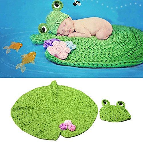 �m Crochet Baby Decke Strickmütze Fotografie Prop Kleidung ()