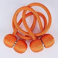 T-CLPJ 2 Piezas Correas de Cortina Hebilla magnética Simple tendón Cortina Hebilla magnética Perforación Libre instalación Cortina Hebilla, Naranja