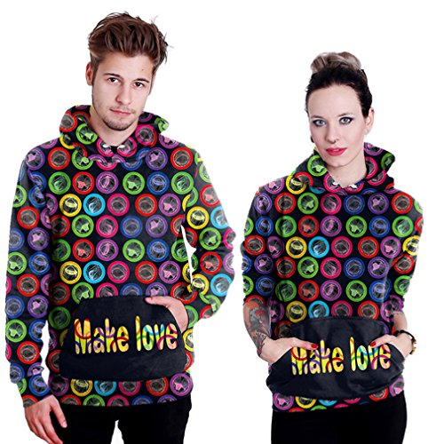 Belsen unisex Kapuzenpullover Sweatshirts Liebhaber Valentine Set Make love