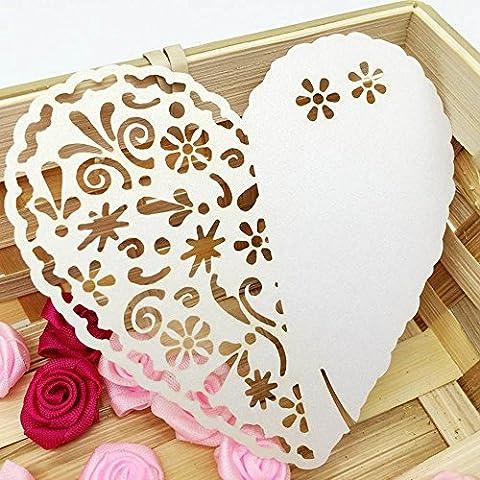 soxid (TM) 20pezzi/confezione da taglio a forma di cuore di vetro matrimonio celebrazione festa di compleanno decorazione tavolo di vino