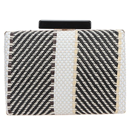 Bonjanvye Twill Weave Evening Bags and Clutches for Women Clutch Purse Party Black