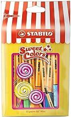 Fineliner - STABILO point 88 Mini - Sweet Colors - 15er Pack - mit 15 verschiedenen Farben im wiederverschließbaren Beutel