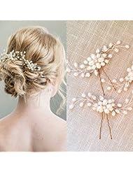WHH* Perle de la femme / coiffure en cristal-mariage / bijoux de bijoux occasion spéciale 2 morceaux