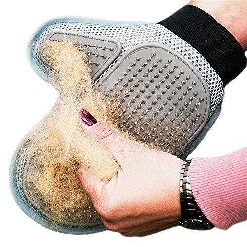 HICYCT Cepillo de guante para limpieza de perro o gato, elimina de manera suave y eficiente el pelo,guante para limpieza suave y eficiente para asear mascotas, guantes de masaje