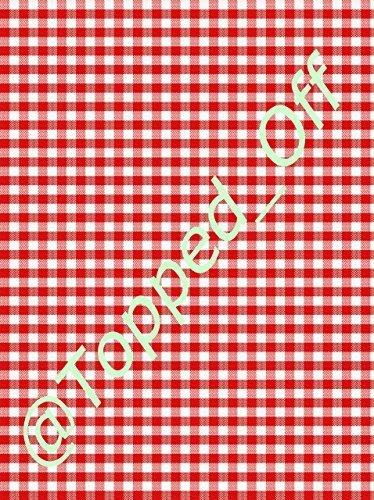 Preisvergleich Produktbild SHABBY CHIC,  vintage-Stil,  Rot-Weiß kariert undamp; A4,  für Fondant-Glasur,  essbar,  Kuchendekoration