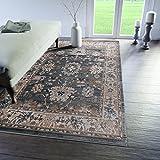 Traditioneller Klassischer Teppich für Ihre Wohnzimmer - Türkis Creme Beige - Perser Orientalisches Muster - Ornamente Kelim - Top Qualität Pflegeleicht