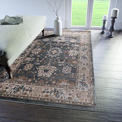 Tabriz Orientalische Teppiche (Traditioneller Klassischer Teppich für Ihre Wohnzimmer - Türkis Creme Beige - Perser Orientalisches Muster - Ornamente Kelim - Top Qualität Pflegeleicht
