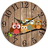 Studio Shubham Vintage styleowl Wooden Wall Clock(29cmx29cmx3cm) PWC-39