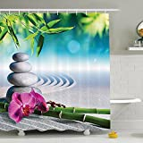 Baño cortina de ducha poliéster impermeable y moho , W165 x L180 cm