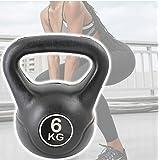 TradeShop - Manubrio Kettlebell da 6 kg Peso con Maniglia Ginnastica Fitness ERGONOMICO - 18610