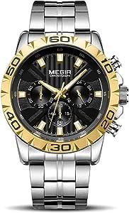 Orologio Cronografo da Uomo Movimento al Quarzo Orologio Sportivo di Moda Business 30 M Impermeabile e Antigraffio Elegante Regalo da Uomo