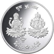 Taraash 999 Silver God Lakshmi Ganesha 10 Gram Coin CF15R3G10W
