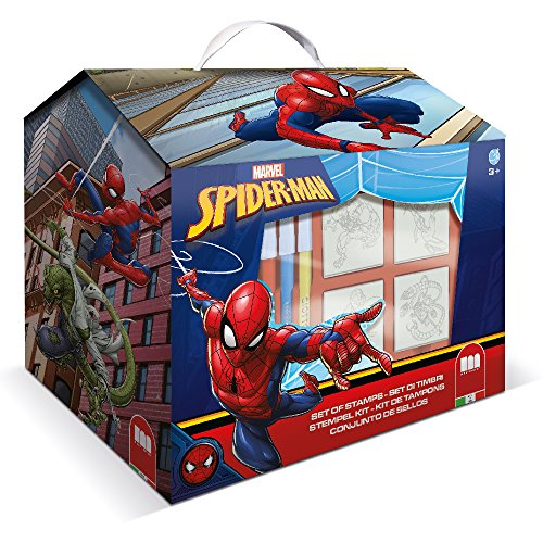Multiprint - Spiderman - Loisir Tampon en Caoutchouc Big Box (Lot de 12)