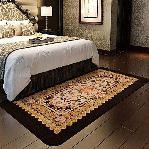 Teppich rutschfeste verschleißfesten Wohnzimmer Couchtisch Rechteckigen Teppich Schlafzimmer Nachtdecke Gesicht Waschbar Teppich (Größe: 90 * 185 cm) (Farbe : #2) (Couchtisch Kunststoff Rechteckiger)