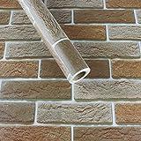 YUELA In mattoni mattoni pattern Wallpaper lo sfondo Cina vento retrò salotto caffetteria in mattoni antichi auto-adesivo impermeabile Wallpaper lo sfondo personalità,ZW012 di mattoni di argilla 60cm*3 metro,in