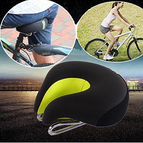 Chartsea Fahrradsattel ohne Nase mit Kissen, hohe Belastbarkeit, für Mountainbikes, Rennrad, Grün