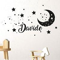 Adesivi Murali bambini Nome personalizzato Adesivo Murale cameretta luna stelle Wall Stickers Personalizzati nursery…