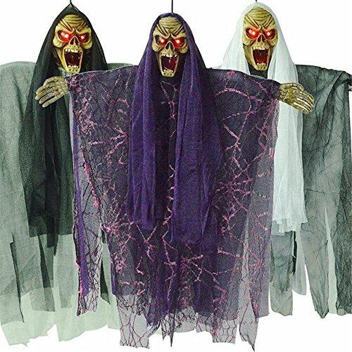 (ARAYACY Halloween Anhänger Geisterhaus Dekorative Lichter Elektrische Sound Control Geister Tricks Terrorist Spielzeug Thriller Artikel (1 STÜCKE))