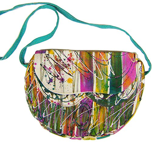 modestone-marriott-womens-glitter-hand-painted-canvas-bag-9-x-7-x2-1-2-fushia