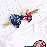 Hoplsen 3 PC Conjunto Recién Infantil Bebé Niñas Floral Cordón Blusa Tapas Camiseta + Falda + Venda Manga corta Primavera Verano Caída Elegante Lindo Aire Partido Trajes Dulce (0-6 meses, blanco)