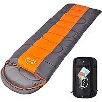 LATTCURE Sac de Couchage Adulte Sleeping Bag Extérieur Professionnel Sac de Couchage Duvet Grand Froid Imperméable pour Camping Excursion Randonnée Compact Épais Chaud