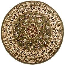 Classici rotondi, motivo floreale orientale in stile persiano tradizionale circolare/Tappeto Tappetino, colore: verde, 133x 133cm