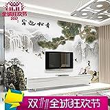 Tapete Experten 3d3dthe Chinesische Wohnzimmer TV Hintergrund Mauer Welcome Matsuyama-Tapete Stereo mit Wandbilder Seamless-Tuch,