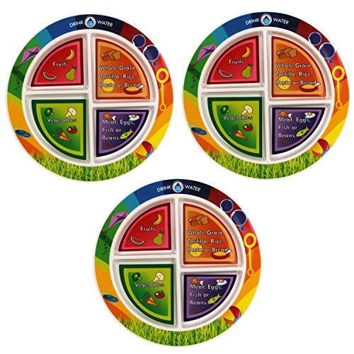 MyPlate Dinnerware (3 Pack), Multicolor ()