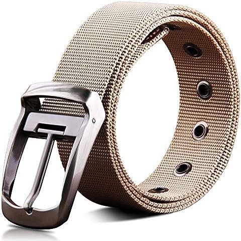 Cinturón de lona hebilla pasador/correa de los hombres ardientes/Cinturón cuero