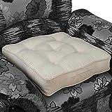 Homescapes extrahohes Sitzkissen orthopädisch Sitzerhöhung Aufstehhilfe ca. 50 x 50 x 10 cm, Bezug aus hochwertigem Velours, 100% Polyester Füllung, uni creme
