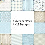 48sheets / lot 6 Dekorative Scrapbooking Kit Fotoalbum Hintergrund Kunstdruckpapier