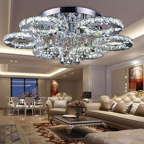 VINGO LED Kronleuchter Modern Deckenleuchte Kristall Deckenlampe ...