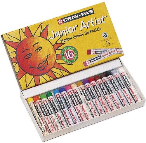 Cray nicht Junior Schachtel 12Pastellkreide, Öl Farben Sortiment Ergänzende, verschiedene farben, 16 Color Set
