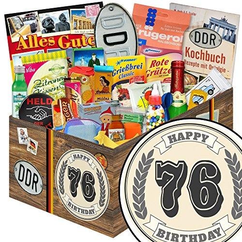 Geschenk zum 76.   24x Allerlei   DDR Box   Geburtstags Geschenke 76   mit Viba, Pfeffi, Liebesperlen und mehr