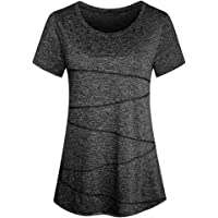 Sidiou Group Anti UV Protective UPF 50+ Fitness Yoga T-Shirt Women Quick Dry Sports T Shirt Running Tee Shirt Elastic…