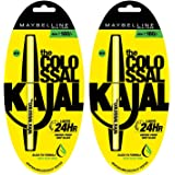 Maybelline Colossal Kajal, Black, (Pack of 2) with Pack of Two at 30% Off