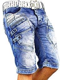 RedBridge Short Hommes Pantalons Sport Jeans Streetwear Pantalon de survêtement Capri