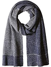 Armani Exchange Men's Two Tone Textured Knit Scarf