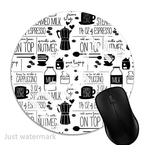 Rezept,7 inch rund Mouse-Pad mit rutschfester Unterlage Standard 1V1931 ()