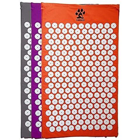 Yogi-bare tappetino per agopressione / Letto of Unghie per Massaggio / Wellness / Rilassamento e tensione rilascio - Arancione