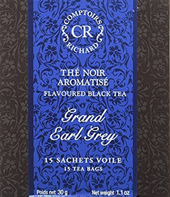 Comptoirs Richard Thé Noir Grand Earl Grey 15 Sachets 30 g - Lot de 2