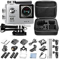 Bestlight Fotocamera Sportiva Action Cam 12MP 4K 60fps WIFI con 2