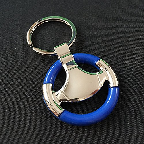 NawaZ Funny und Fashion Key Dekoration Auto Lenkrad Anhänger Metall Schlüsselanhänger Geldbörse Handtasche Keychain Geschenk (blau)